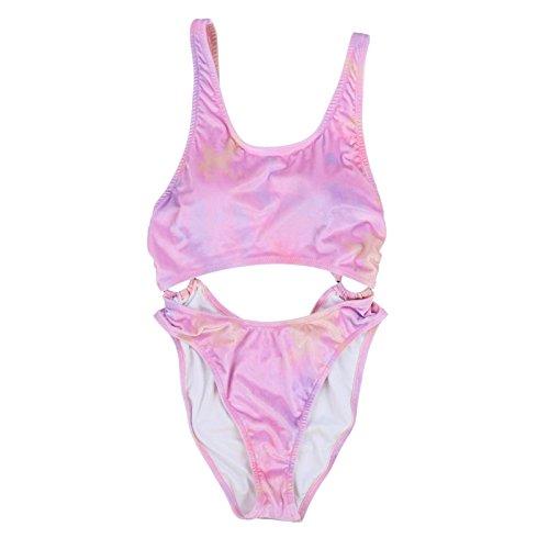 Victoria's Secret Monokini, Einteiler, Velours, Pink - Pink - Large