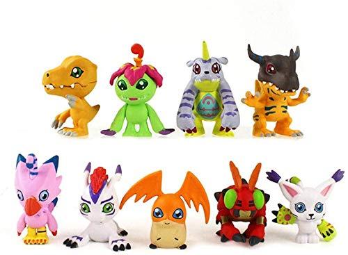 NC56 3.5-5cm 9pcs/lot Digimon Adventure Figures Greymon Agumon Gabumon Patamon Tailmon Gomamon Piyomon Palmon Tentomon Model Toy Doll