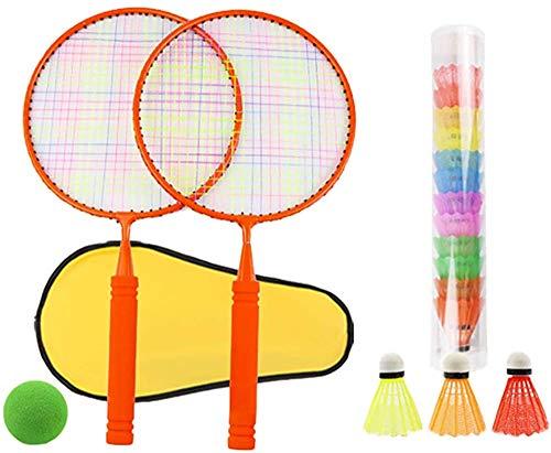 Panelk Deportes al Aire Libre de los niños de Raqueta, la Raqueta de bádminton Juguetes y Bola de Tenis de los niños 2 en 1 Grupo,Red