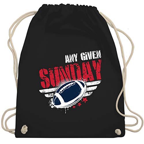 Shirtracer American Football - Any Given Sunday Football New England - Unisize - Schwarz - Patriots - WM110 - Turnbeutel und Stoffbeutel aus Baumwolle