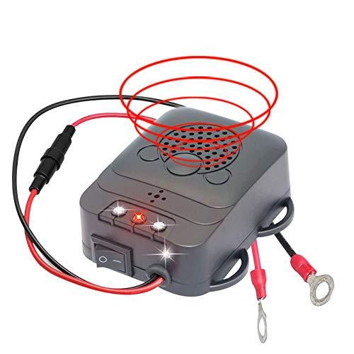 Mirocle Life Marderschreck Auto, Marderfrei mit Ultraschallund Blitzlichtfunktion, Mobil Marderabwehr Marderschutz Anschluss an 12V Autobatterie für Auto, KFZ, PKW, Fahrzeug