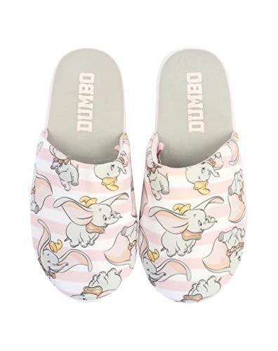Disney Dumbo Women's/Ladies' Pink Slip-on House Slippers