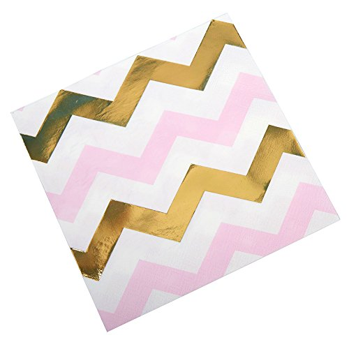 Neviti Patroon Works servetten Zigzag, Pink