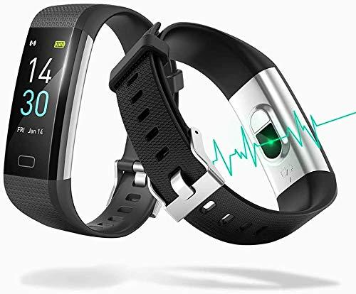Fitness Tracker, Fitness Armband mit Pulsmesser, IP68 Wasserdicht Smartwatch Sportuhr, 0,96 Zoll Farbbildschirm Herzfrequenzmesser Blutdruckmessung Pulsuhr Kalorienzähler für Damen Herren