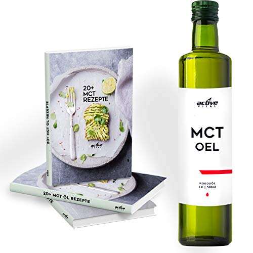 MCT-Öl C8 ACTIVEVITAL 500ml Neutral aus Kokos-Öl Bulletproof Coffee Pure Caprylsäure (C-8) Vegan + GRATIS E-BOOK