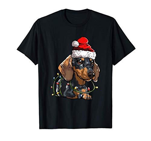Perro Salchicha Navidad Regalo X-Mas Disfraz Amor De Perro Camiseta