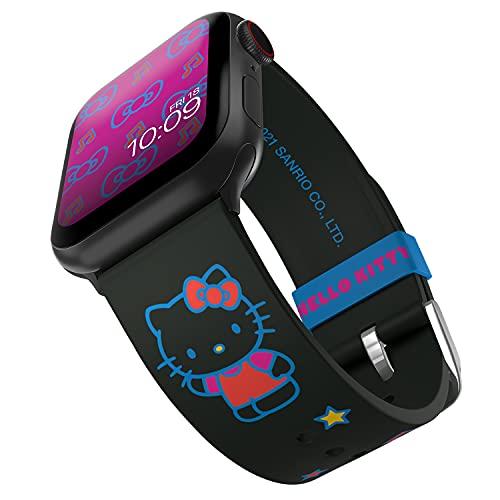 Hello Kitty - Correa para reloj inteligente Sweet Beats - Licencia oficial, compatible con Apple Watch (no incluido) - Se adapta a 38 mm, 40 mm, 42 mm y 44 mm
