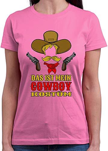 HARIZ Damen T-Shirt Rundhals Das Ist Mein Cowboy Kostüm Karneval Kostüm Plus Geschenkkarte Rosa XXL