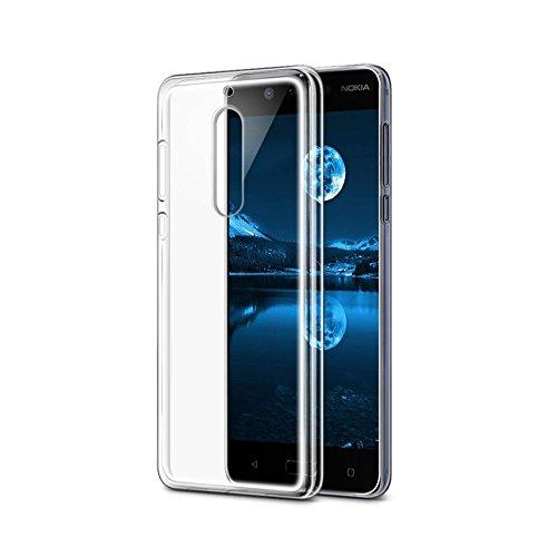 CoverKingz Schutzhülle Handy Hülle für Nokia 5 Handyhülle durchsichtig, Silikon Case Transparent