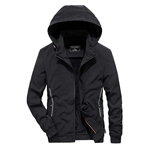 Men's Outdoor Jacket Winter Coat With Men's plus velvet thickening-black_3XL
