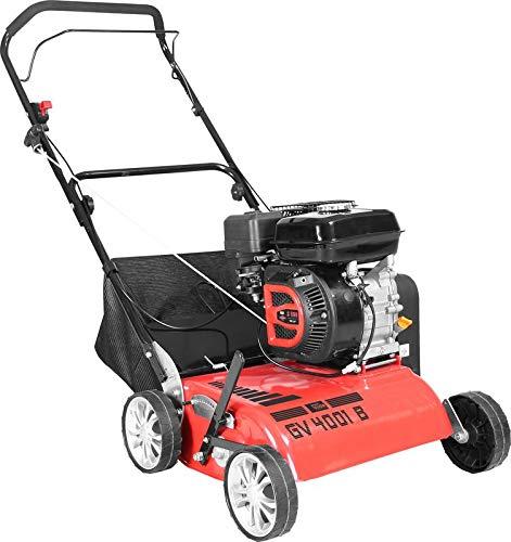 GÜDE GV 4001 B Benzin Vertikutierer | 3,8 kW Leistung | 196cc Hubraum | 40cm Arbeitsbreite | 7-Fach Schnittverstellung | 30 Liter Fangkorb