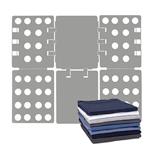 NXM Doblador Ropa Plegador Ropa Ayuda Plegable para Doblador Carpeta Ropa Camiseta Tablero Camisetas Organizador Camisetas, Camisa Rápida del Estilo del Tablero Plegable,Gris