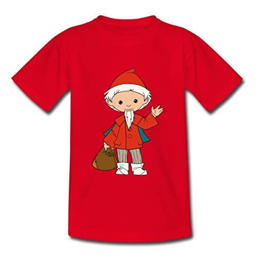 Sandmännchen Sandmann Mit Beutel Voll Traumsand Kinder T-Shirt, 98-104, Rot