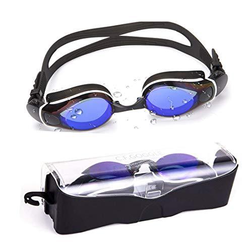 KOLCY Swim Goggles Anti-Fog UV Protection Adjustable Strap Swim Glasses Adult