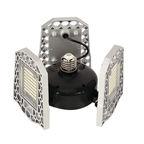Xigeapg Garagenbeleuchtung Garagenleuchte Verformbare LED Garagenleuchten 6000Lm 80W LED Einstellbare Leuchte GaragenglüHlampe Ladenleuchte für Garage, Arbeitsleuchte Premium