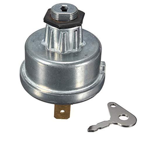 JIE Interruptor de Encendido de Tractor Universal 12V / 24V con 2 Llaves como para Lucas 35670 Silver