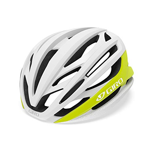 Giro Unisex– Erwachsene Syntax Fahrradhelm Road, Highlight Yellow/Black, L (59-63cm)