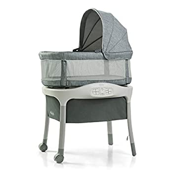 Graco Move  n Soothe Bassinet   Baby Bassinet with Movement Vibration and Sound Settings to Help Soothe Baby Mullaly