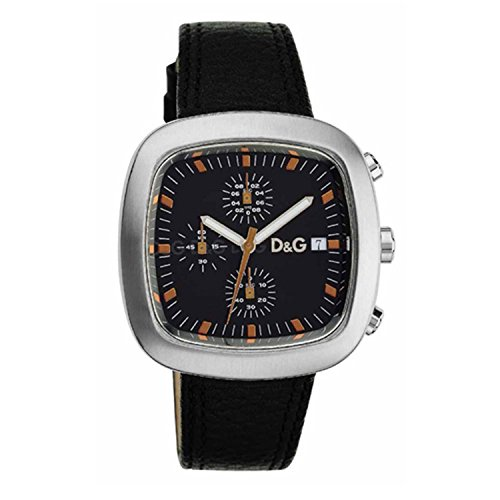 Dolce & Gabbana 3719740195–Reloj de pulsera, Piel), color negro