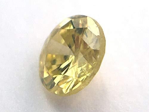 0,12 Karat Diamant Gelbgrün SI1 Rund Brillant natürlich lose 3,02 mm #16
