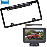Rohent R3 HD 1080P Digital Wireless Backup Camera with 5'' Monitor License Plate Hitch Rear View Camera System for Cars,Trucks,Campers IP69 Waterproof Front /Rear View Switchable 8 IR Night Vision