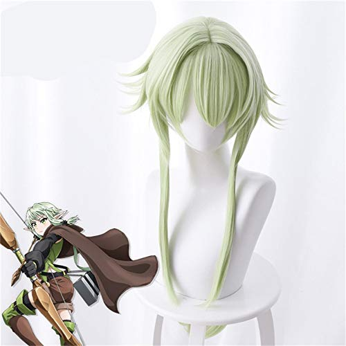 Goblin Slayer Yousei Yunde Cosplay peluca 80Cm verde resistente al calor pelo sinttico Goblin Slayer disfraz juego de rol pelucas + gorro de peluca