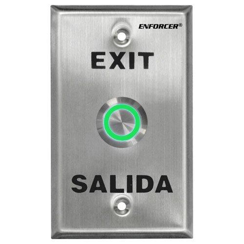 Seco-Larm Enforcer Push-To-Exit Plate, Vandal Resistant, Illuminated (SD-7275SGEX1Q)