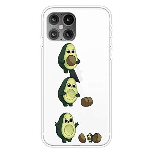 AChris iPhone 12 Pro MAX Case Cover Carcasa Suave Funda Silicona Transparente Protector Anti-Choque Ultra-Delgado Impresión de Estuche Carcasa Trasera para iPhone 12 Pro MAX - Palta