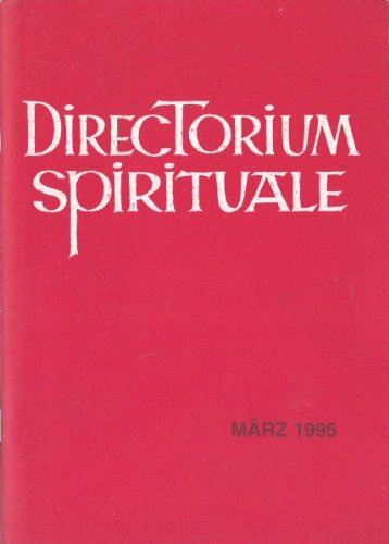 Directorium Spirituale März 1995