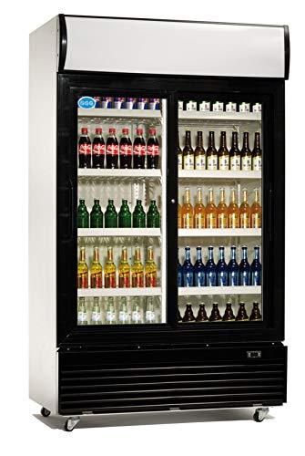 Flaschenkühlschrank mit Glastür 800 Liter Getränkekühlschrank Barkühlschrank Gewerbe Gastronomie