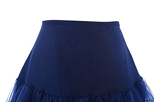 Dresstells 1950 Petticoat Reifrock Unterrock Petticoat Underskirt Crinoline für Rockabilly Kleid Navy M - 2