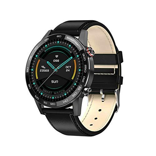 JXFF L16 Smart Watch Men's Bluetooth Smartwatch Hombre IP68 Impermeable Múltiples Modos De Deportes Control De Música Presión Arterial Pulsera Cardíaca Fitness Pulsera para Android iOS,A
