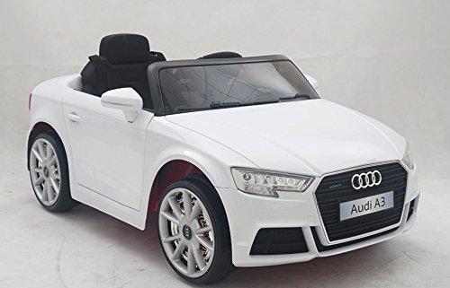 Toyscar Auto Macchina Elettrica Audi 12V A3 2018 Bianca per Bambini LED MP3 con Telecomando