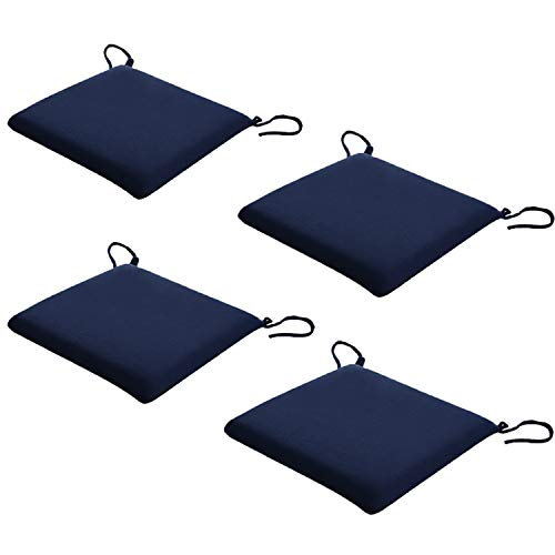 Chair Cushions 4 Packs with Ties forOffice Decoration, Patio Seat Cushions, Office Bar, Sofa Pillow Buttocks, Momery Form Home Chair Pads Home Garden Available in Winter and Summer, 16x16 Inch