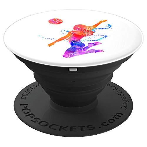 Geschenk für Volleyballspielerin beim Volleyball - PopSockets Ausziehbarer Sockel und Griff für Smartphones und Tablets