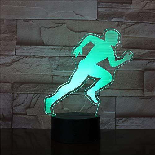 MÄNNLICHE Männer RUNNER 3D Tischlampe Kinder Spielzeug Geschenk Led Nachtlicht Sensor Dekoration Kind Kinder Baby Kit 3D Tischlampe Kinder Spielzeug Geschenk Dekoration Fliege Sport Geschenk