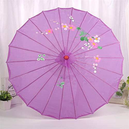Decoratieve zijde paraplu dansen rekwisieten paraplu handgeschept papier dak houten kleur antiek