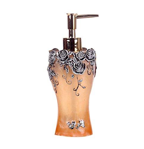 Exquise corps de crème liquide bouteilles réutilisables / Container,Yellow Rose