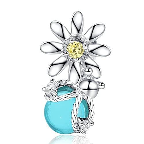 Pandora 925 joyería de plata esterlina colgantes novo bonito luciérnaga flores pingente contas adequado para charme pulseira senhoras jóias fazendo presentes