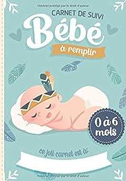 Carnet de Suivi Bébé à remplir 0 à 6 mois: Cahier