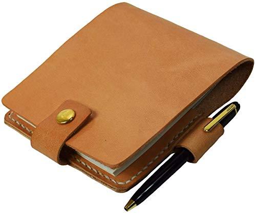 B7 メモ用紙カバー 本革 レザー ヌメ革 ペンホルダー付き B7サイズ ブックカバー N-0178