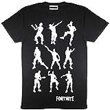 Fortnite emotes Baile Camiseta para Hombre Negro M
