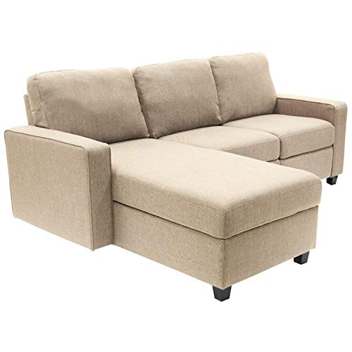 Serta Palisades Reclining Sectional with Left Storage Chaise - Oatmeal