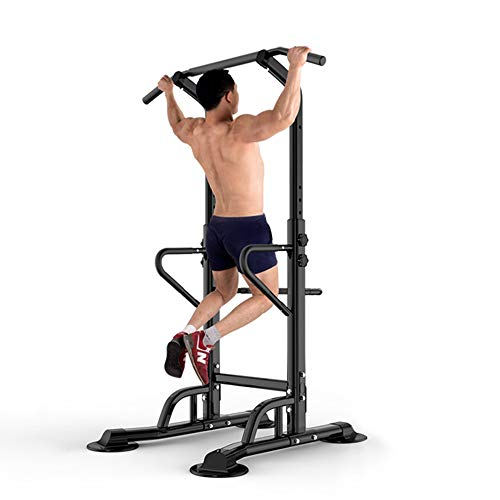 DlandHome Power Tower Tour de Musculation Barre de Traction Ajustable Station Musculation Dips...