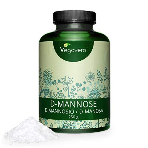 VEGAVERO® D-Mannose Pulver 250g | 4-Monatskur | 100% Rein und Naturbelassen | Hergestellt in Deutschland | Umfangreich Laborgeprüft | Unbehandelt und ohne Zusatzstoffe | Vegan