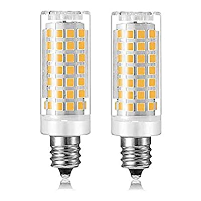 E12 LED Bulb Dimmable 6W C7 Bulb Equivalent to E12 Halogen Bulb 60W, Warm White 3000K T3/T4 Base 120V E12 Candelabra Bulbs for Ceiling Fan,Kx-2000 Bulbrite Replacement?2 Pack?