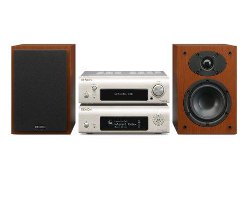 Denon D-F109N Stereo Kompaktanlage (2x 65 Watt, Internetradio, DLNA, AirPlay, UKW, App Steuerung) premium silber/kirsche