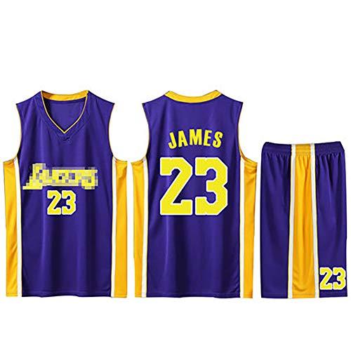 Basketball-Uniformanzug, passend für die Lakers 23 James-Basketballuniform, maßgefertigter Wettkampftrainingsanzug-blue-3XL