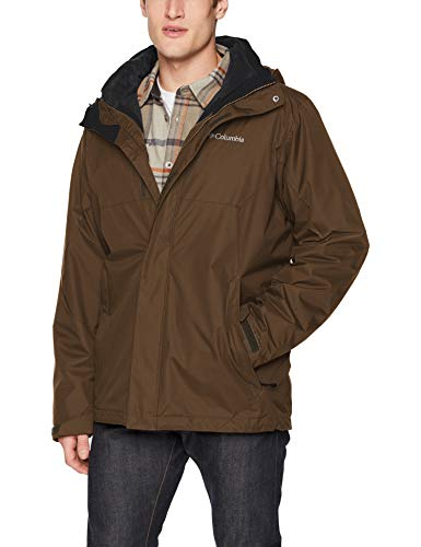 Columbia Men's Eager Air Interchange 3-in-1 Jacket, Olive Green, Small