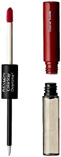 Revlon ColorStay Overtime Liquid Lip Color, Forever Scarlett [40] 0.07 oz (Pack of 3)